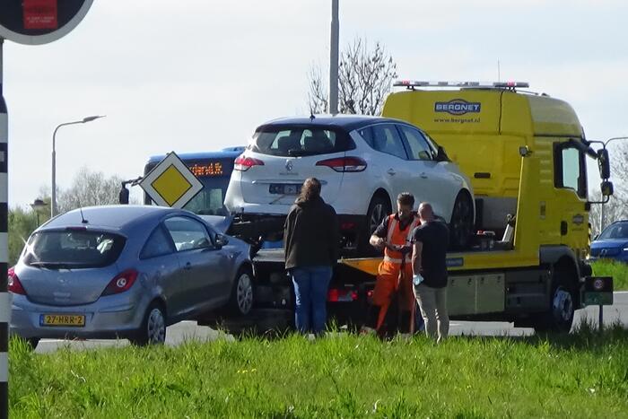 Politie sluit rijbaan af door ongeval