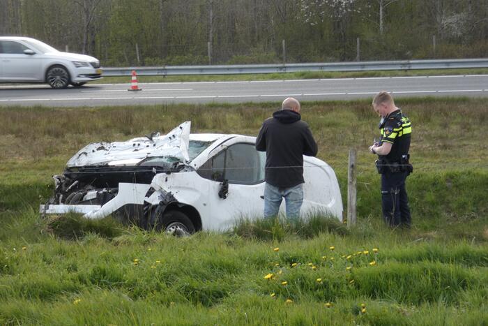 Zwaar ongeval tussen drie voertuigen