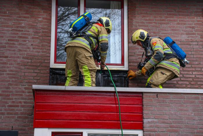Brand op dak tijdens werkzaamheden