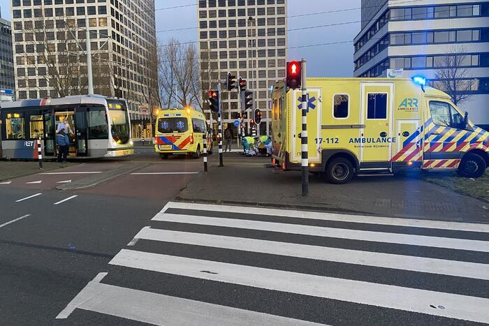 Tramverkeer tijdelijk plat door incident naast spoor