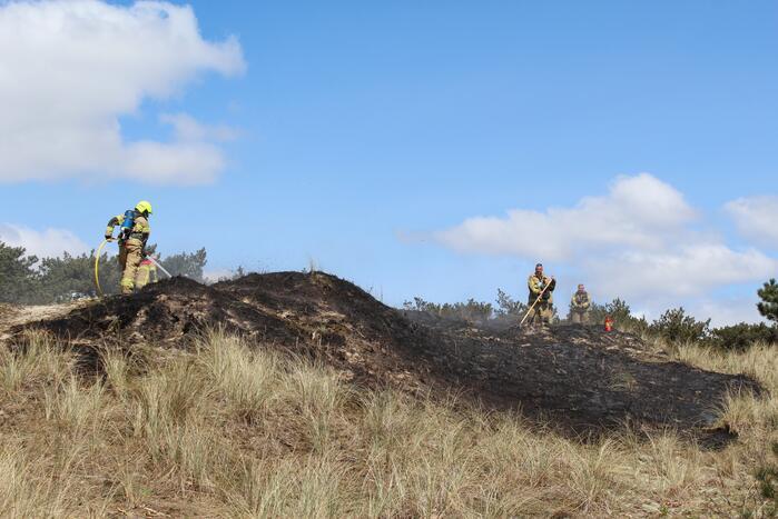 Stuk natuurgebied getroffen door brand