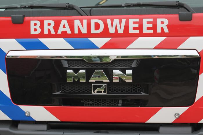 Brand in stapel houtsnippers