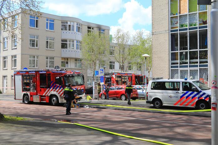Veel schade na brand in appartement