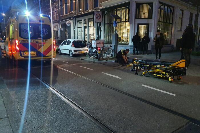 Scooterrijder gewond bij eenzijdig verkeersongeval