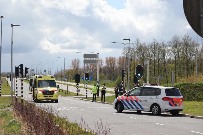 Ongeval tussen dienstvoertuig en fiets