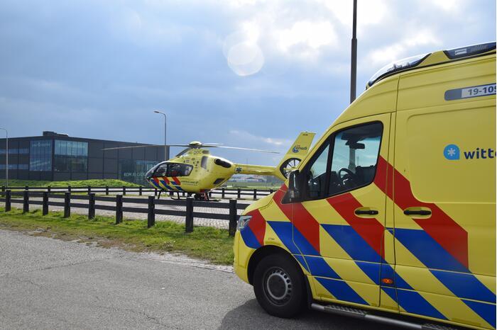 Jong kind overgebracht met traumahelikopter door incident