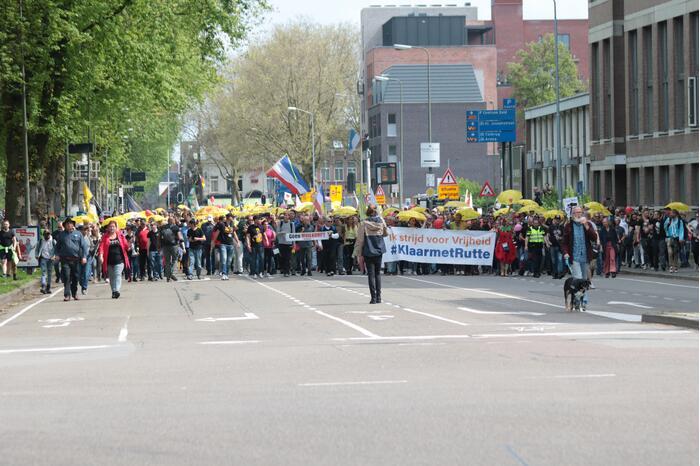 Manifestatie Walk of Freedom tegen coronabeleid
