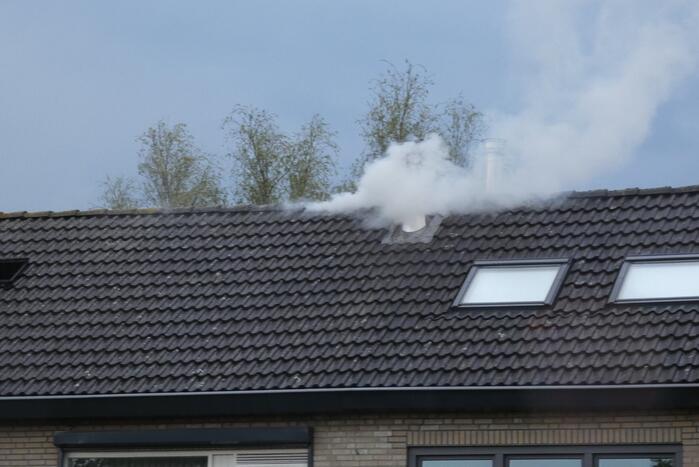 Brandweer bestrijdt uitslaande woning brand