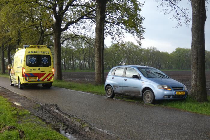 Auto tegen boom tot stilstand