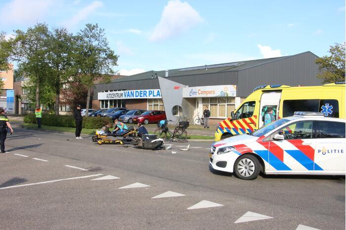 Persoon gewond bij ongeval met scooter