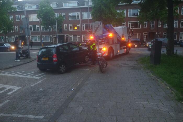 Auto crasht na politieachtervolging