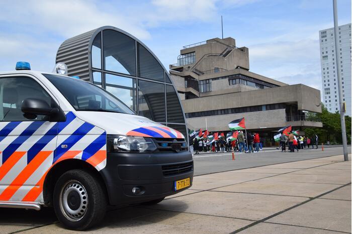 Politie houdt toezicht bij demonstratie