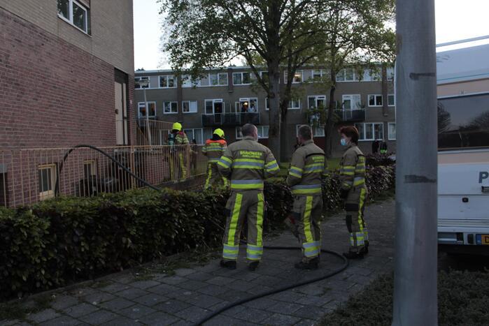 Brand in kelder van gebouw