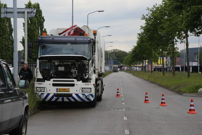 Vrachtwagens botsen bij keeractie