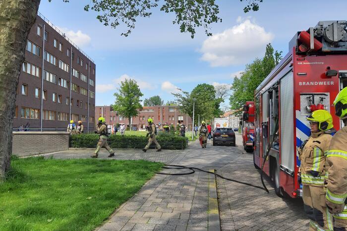 Veel rook bij brand in parkeergarage