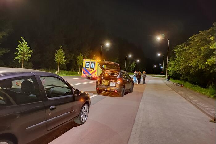 Gewonde bij ongeval tussen scooter en fietser