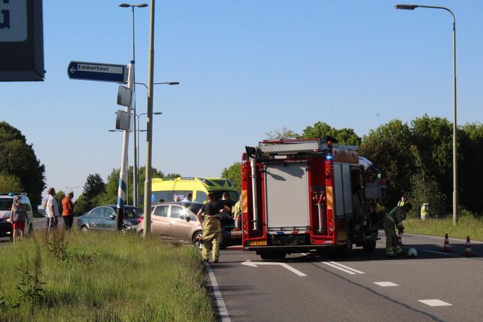 Gewonde bij ongeval tussen twee auto's