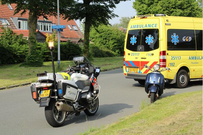 Meisje gewond door ongeval met scooter