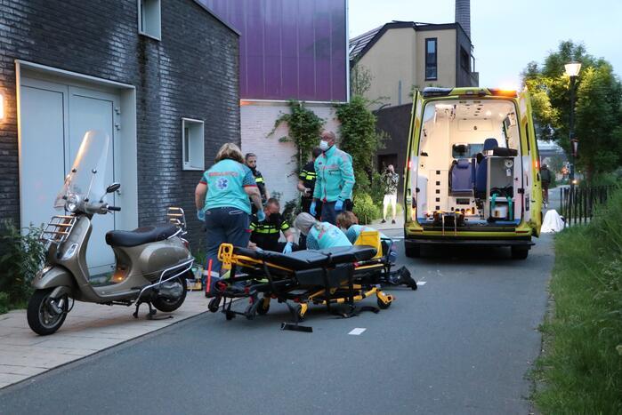 Gewonden bij ongeval tussen fiets en scooter