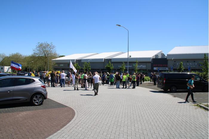 Demonstratie tegen coronaregels en vaccinatie