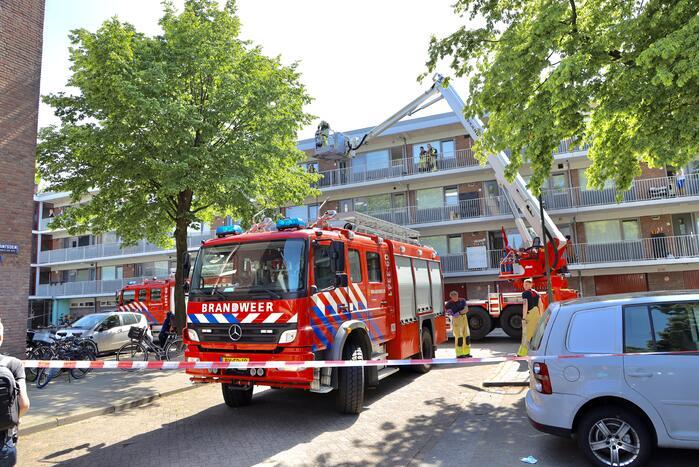 Brand op derde verdieping in flatwoning
