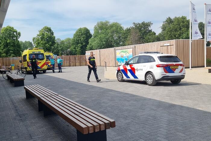 Traumahelikopter landt voor incident in Sportcentrum De Kuil