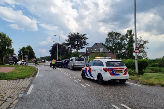 Vijf voertuigen betrokken bij kettingbotsing
