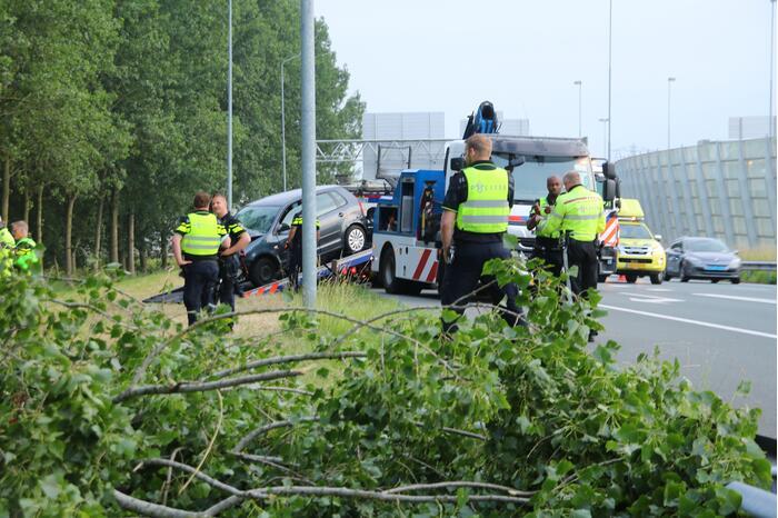 Twee gewonden bij ongeval op snelweg
