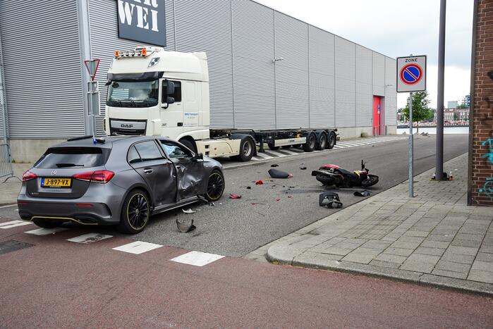 Enorme schade bij ernstig ongeval