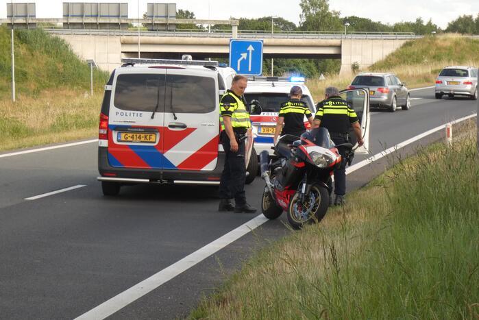 Motorrijder gewond na valpartij