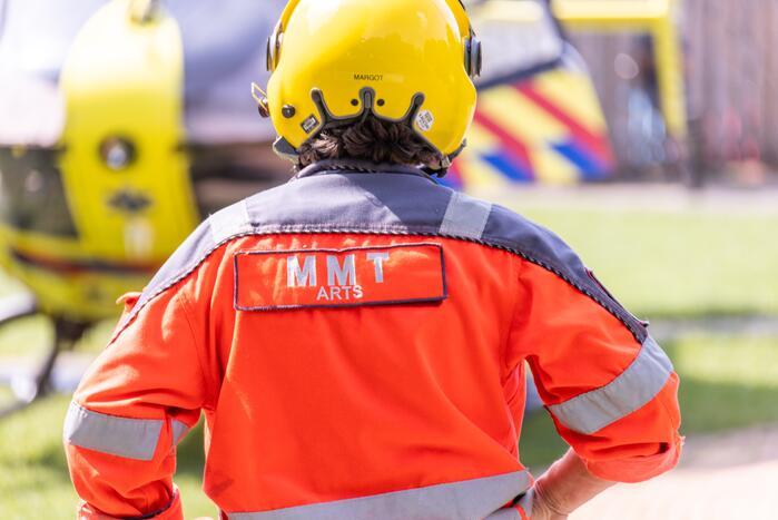 Traumahelikopter ingezet bij steekincident