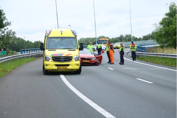 Sportwagen total-loss door eenzijdig ongeval