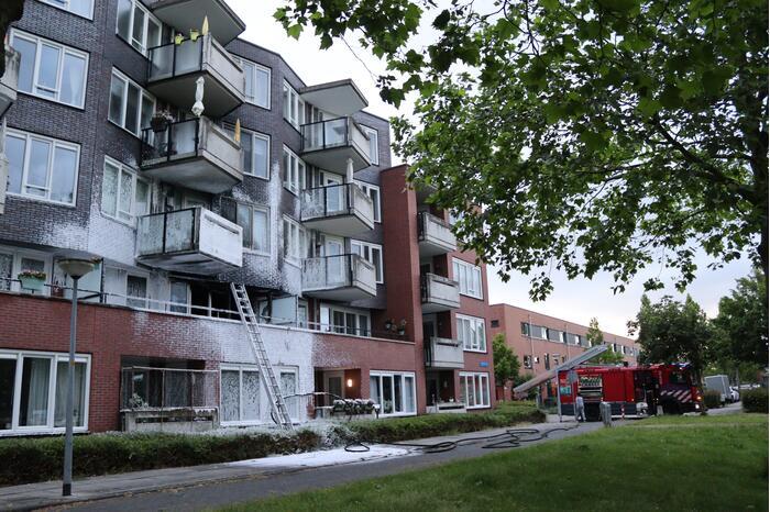 Grote brand in appartementencomplex