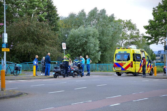 Brommerrijder gewond bij eenzijdig ongeval