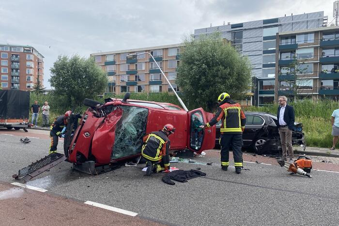 Zwaargewonde bij ernstig ongeval