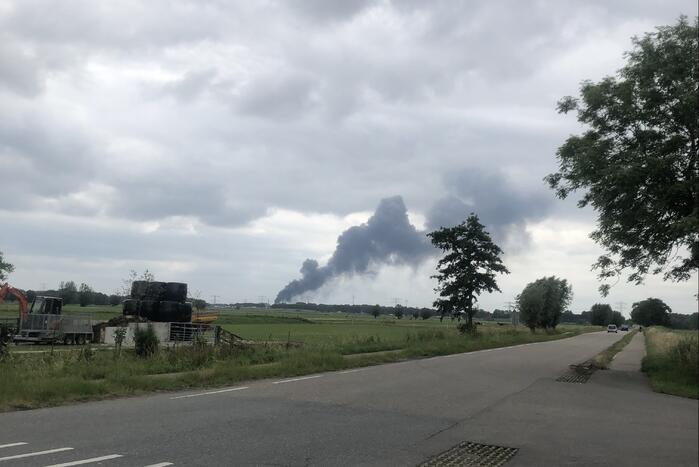 Grote brand bij HVC afvalbrengstation