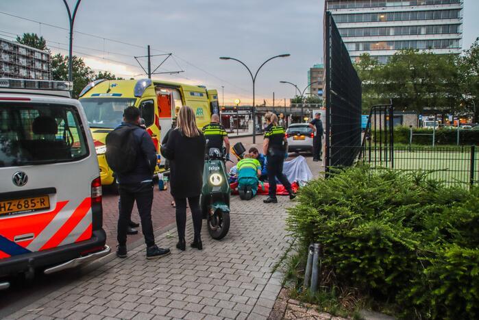 Gewonde na ongeval met scooterrijder