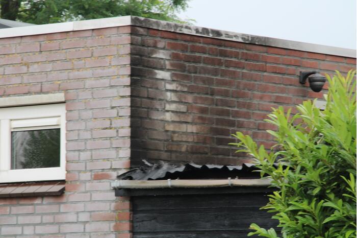 Gasbrander veroorzaakt schade aan schuur