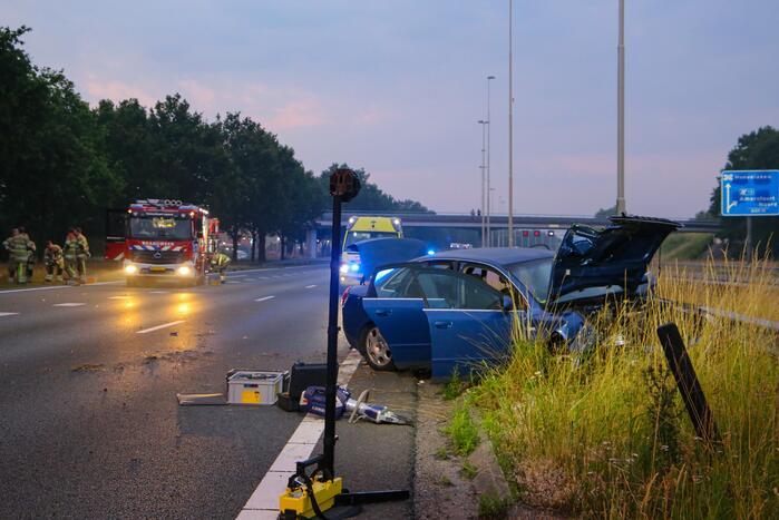Zwangere vrouw gewond door ernstig ongeval