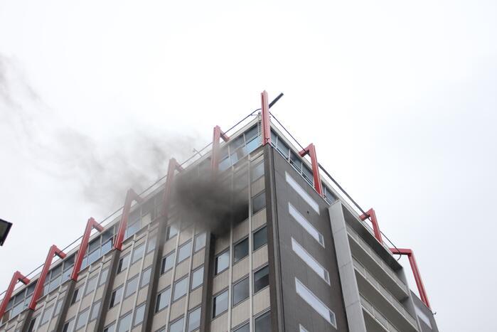 Veel rook bij grote brand in kantoorpand