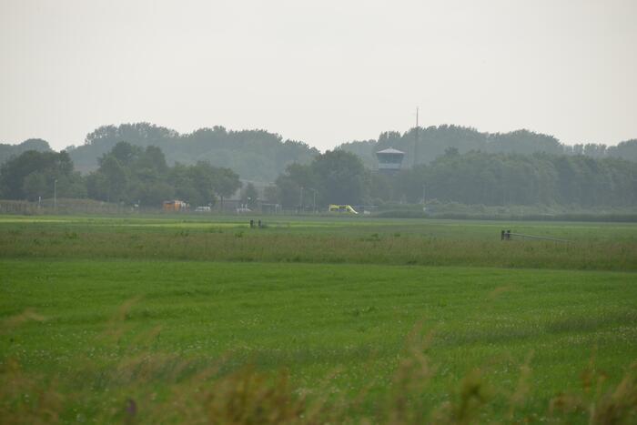 Belgische F-16 botst op gebouw vliegbasis, twee gewonden