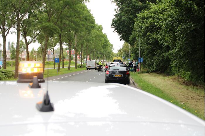Vier personenwagens betrokken bij kop-staartaanrijding