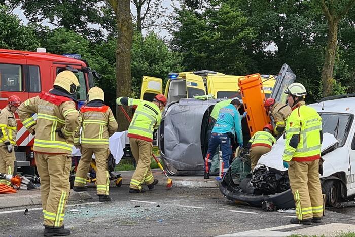 Ernstig ongeval op rotonde