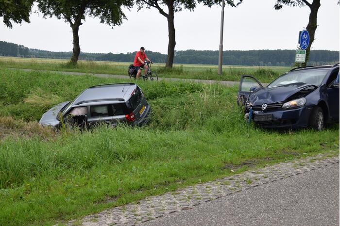 Auto in de sloot na ongeval