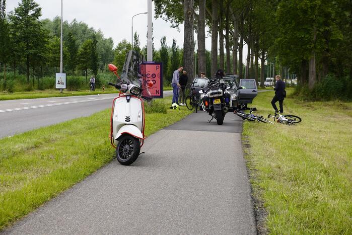 Vader en zoon op de fiets gaan onderuit bij ongeval