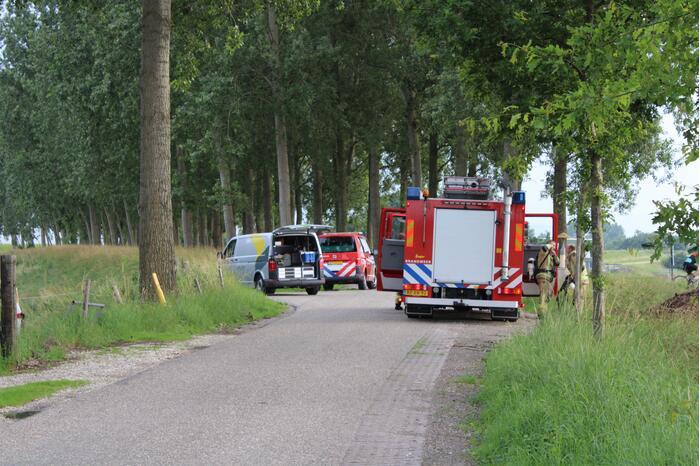 Brandweer ingezet voor gaslucht door werkzaamheden