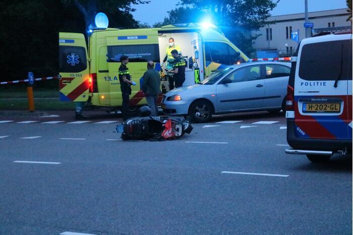 Persoon gecontroleerd na ongeval met scooter