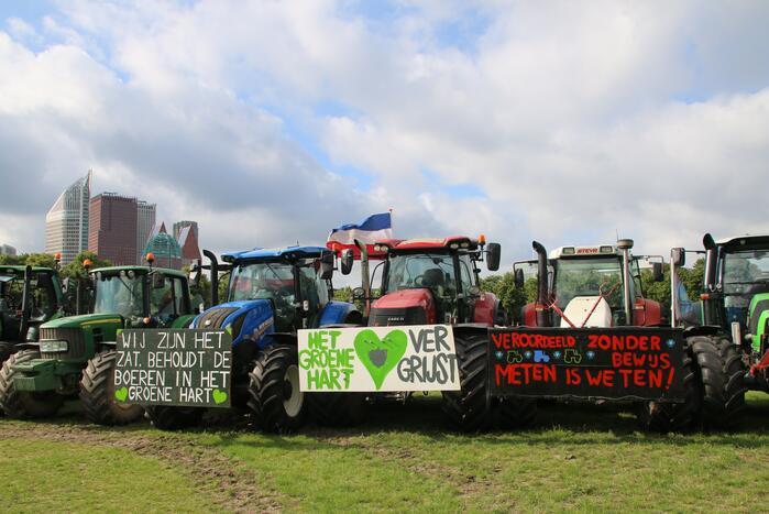 Eerste boeren arriveren op demonstratieterrein