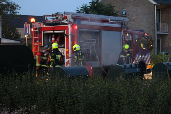 Brand in ondergrondse container