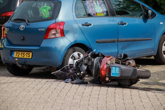 Scooterrijder gewond bij scooterongeval